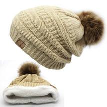 Hat Winter Cap Beanie Knit Ski Solid Plain Women Skull Warm Slouchy Hand... - $16.24 CAD