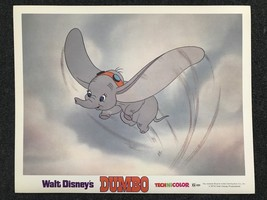 Dumbo Original Disney Lobby Card R72 Classic Animation Dumbo Flying - $23.02