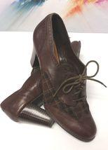 Lace Pump Dress Toe Brown 10 Oxford Etienne Heeled Cap Leather Up Aigner Shoes CqAt4A