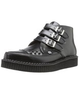 T.U.K. Shoes A8503 Unisex-Adult Boots, 3-Buckle Pointed Creeper Boots, B... - $88.22