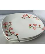 Fisher Ceramica Ceramica Piatti Piani Set di 3 Ciliegio Arrotondata Quad... - $42.76