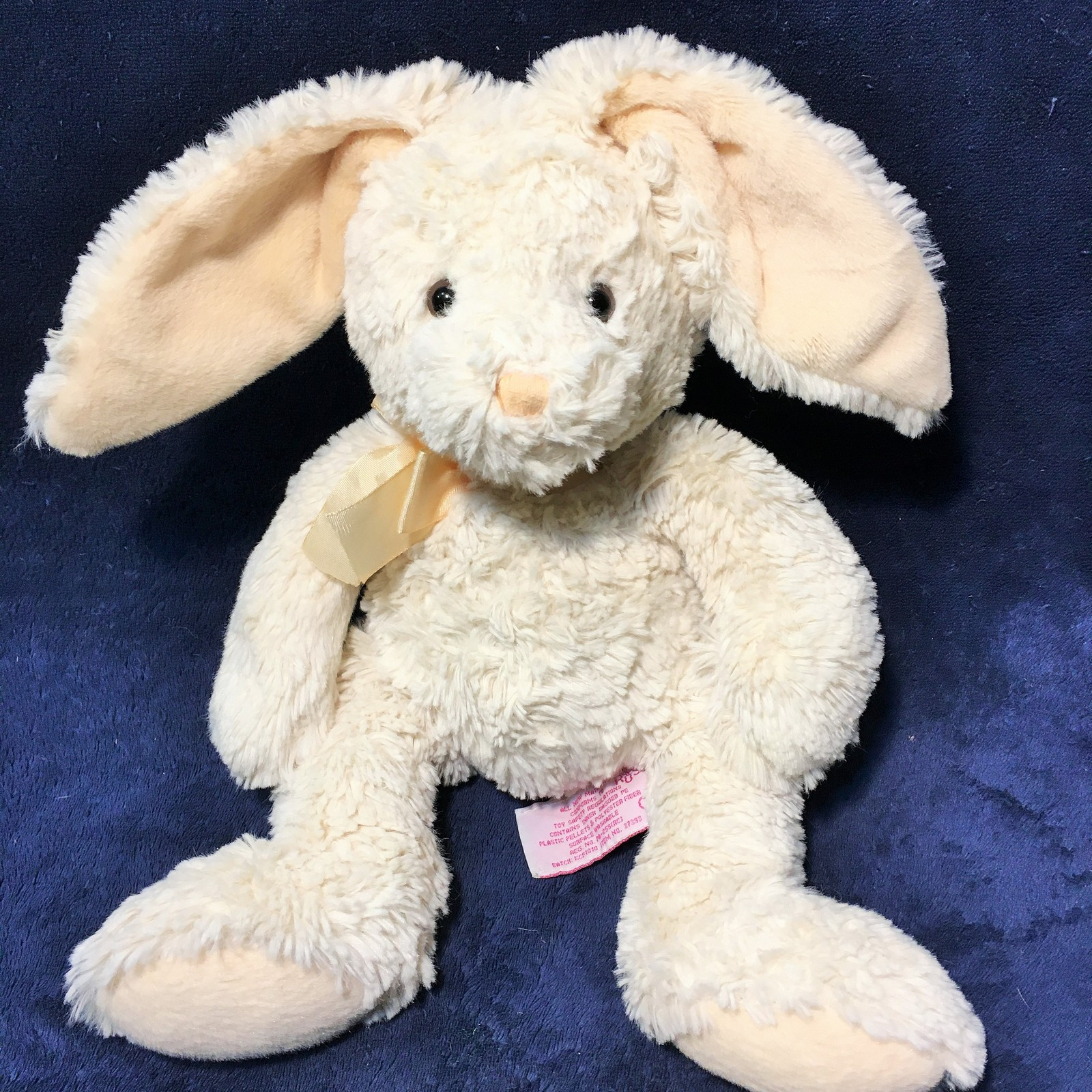 Primary image for Russ Berrie Bunny Rabbit HIPPITY Plush Toy RARE Cream Stuffed Animal #37393 -12""