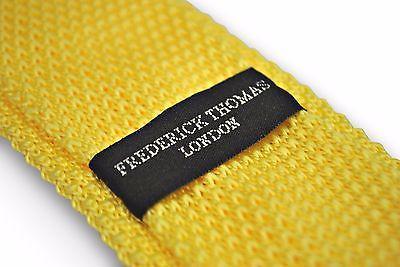 Frederick Thomas Amarillo Limón de punto Delgada Corbata Lana Extremo en ft2222