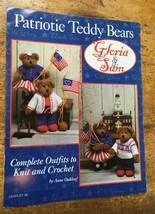 Patriotic Teddy Bears crochet patterns Gloria & Sam 4th of July Crochet Outfits - $6.88