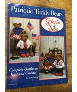 Patriotic Teddy Bears crochet patterns Gloria & Sam 4th of July Crochet ... - $6.88
