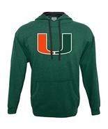 NCAA Miami Hurricanes Men's Hood 50/50 Fleece Top, Green, X-Large - $27.95