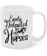 Easily Distracted By Horse Horseback Riding Lover Coffee Mug - $16.95