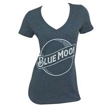 Blue Moon Logo Women's Heather Blue T-Shirt Blue - $29.98