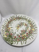 """Tabletops Unlimited Spring Garden Hand Painted Collection 11 1/4"""" Dinner Plate - $19.99"""