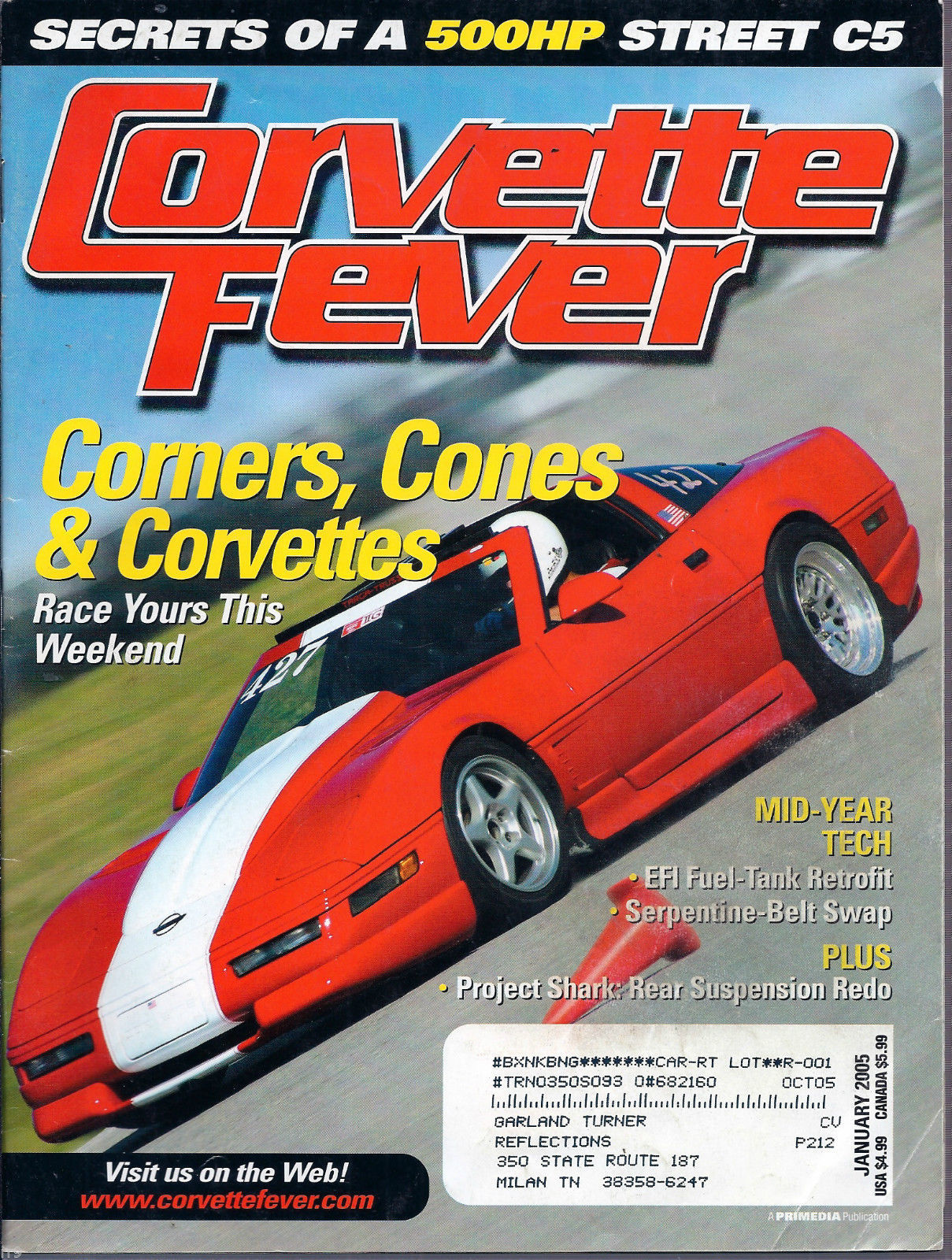 Primary image for Corvette Fever Magazine January 2005 Corners, Cones & Corvettes