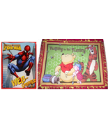 "Fleece Throw Blanket Hand Tied 48"" x 60""  Winnie the Pooh Spiderman - $79.95"