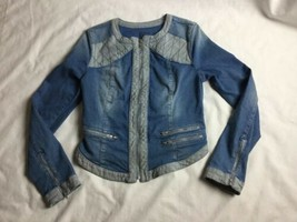 Guess Racer Denim Moto Biker Jean Jacket Women M Medium - $32.71