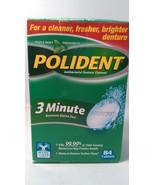 Polident 3-Minute Antibacterial Denture Cleanser-84 ct - $11.63