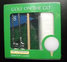 Toysmith Golf On The Go Life In Miniature Desktop Games Chrome Clubs Sea... - $8.99