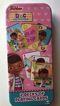 Disney Junior DOC McStuffins 2 Decks of Playing Cards In Tin Game - Cardinal - $12.16