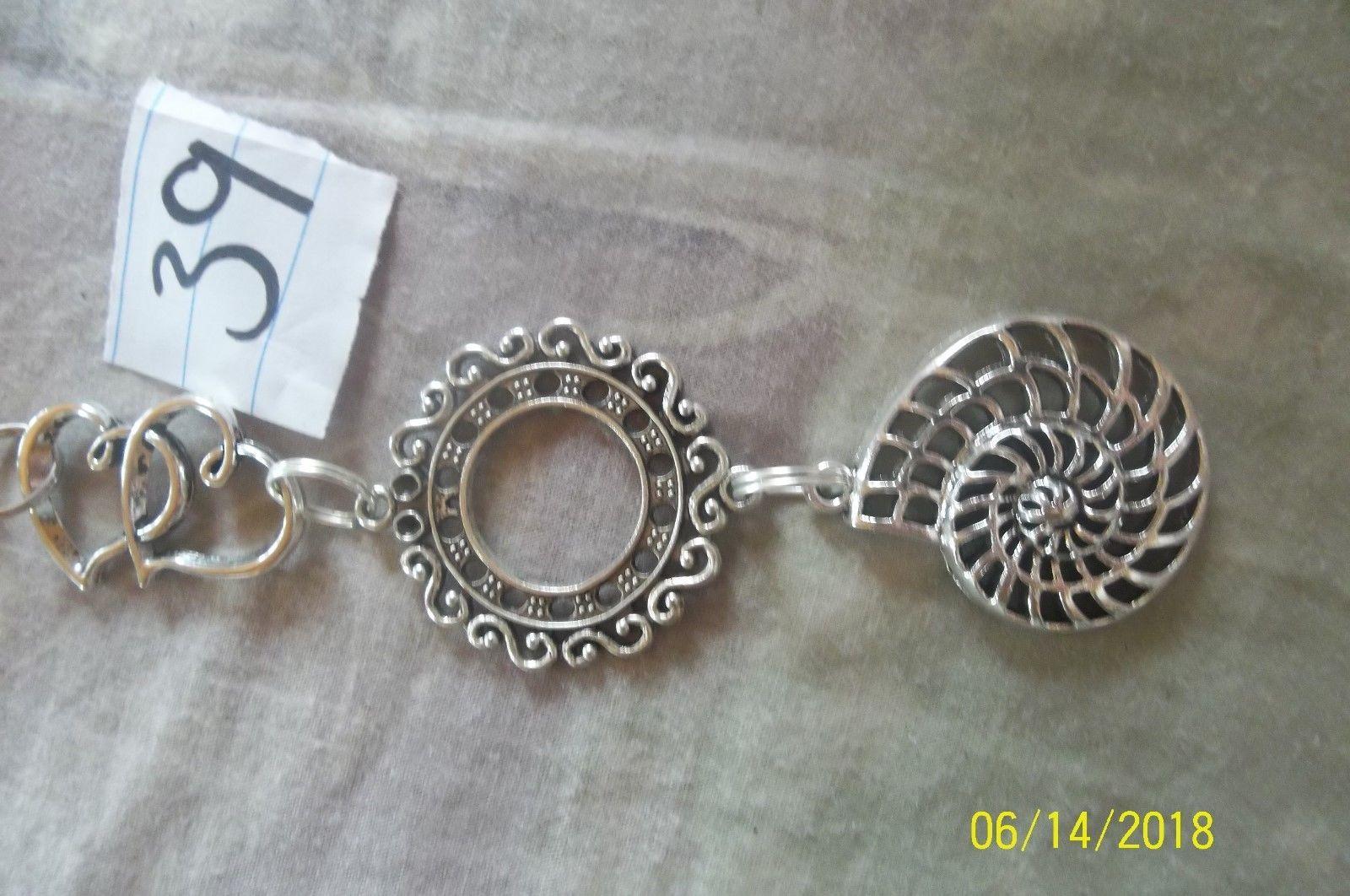 # purse jewelry silver color beauty keychain backpack filigree dangle charm #39