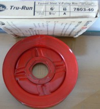 "Vintage New Old Stock Gates 6"" Diameter Tru-Run Steel V-Pulley 7803-40  - $9.89"