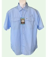 The American Sportsman Men's Short Sleeve Button Down Vented Fishing Shirt Large - $9.90