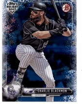 2017 Bowman Holiday Blue Winter Wonderland #TH-CBL Charlie Blackmon NM-MT /50 Ro - $14.99