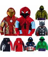 Kid Toddler Boy Superhero Top Hoodie Hooded Sweatshirt Winter Jacket Coa... - $24.50