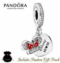 New Authentic Pandora Disney Parks Exclusive Minnie Mouse Mom Charm Bead - $37.39