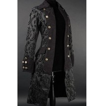 NWT Women's Black Brocade Victorian Goth Vampire Dracula Pirate Jacket R... - $119.99
