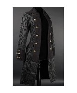 NWT Women's Black Brocade Victorian Goth Vampire Dracula Pirate Jacket R... - $102.25