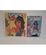 MS. MARVEL VILLAGE VOICE - KAMALA KHAN + MS. MARVEL #5 - FREE SHIPPING - $18.69