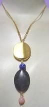 Black/Gold Pendant Necklace (Wholesale Lots) - $18.87