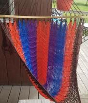 Hammock Chair Hanging Rope Macrame Net Indoor Outdoor Patio Garden Multi... - $28.80