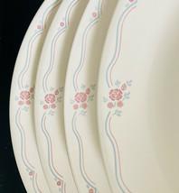 "4 Corning Corelle ENGLISH BREAKFAST Dinner 10-1/4"" Plates - Beige Pink Rose Blue - $18.80"