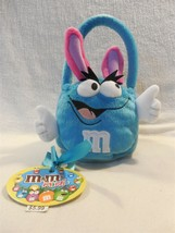2005 M&M's Minis Galerie Easter Plush Blue Bunny Basket - $3.95