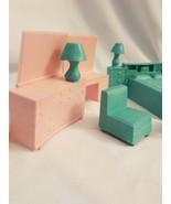 Marx Plastic Bedroom Furniture Dresser Headboard Vanity Bed lamp 8 pieces - $17.77