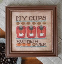 My Cups Runneth over #6 Cool Beans series cross stitch chart Hands On Design  - $5.40