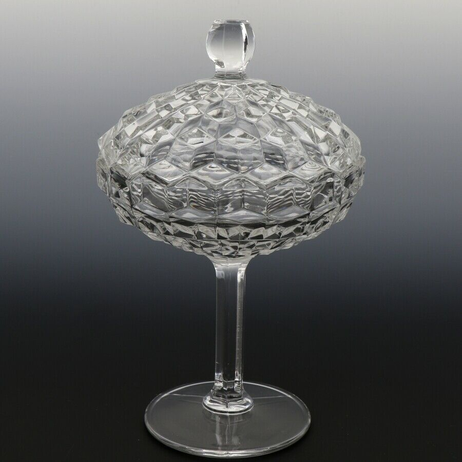 Fostoria American Crystal Bowl Footed Jelly with Cover
