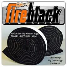 Fireblack34 For Big Green Egg Small Medium  Mini 3/4 X 1/8 Black Hi Temp... - $12.90