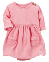 Carters 6 Months Pink Bodysuit Dress Baby Girl Clothing - $22.00