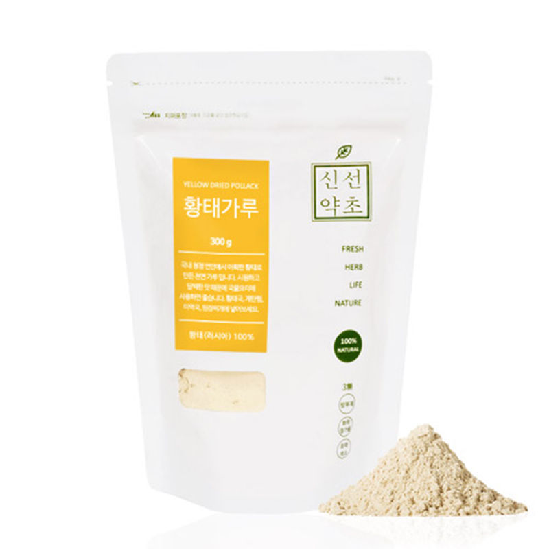 100% Pure Yellow Dried Pollack Freeze-Dried Natural Seasoning Health Food 300g