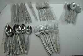 Vintage Eterna Ekco Roses Stainless Steel Flatware  47 Pieces Korea ROSE - $54.45