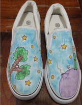 Hand Painted Shoes The Little Prince Shoes Anime Hand Painted Shoes Custom Anime - $76.09