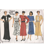 Vogue Pattern 1534 Misses Dress Variations In Style and Lengths Sizes 8.... - $4.70