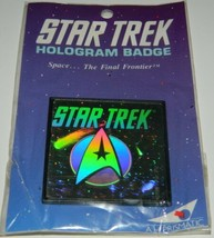 Classic Star Trek TV Command Logo In Space Hologram Pin Badge 1992 MINT SEALED - $9.74