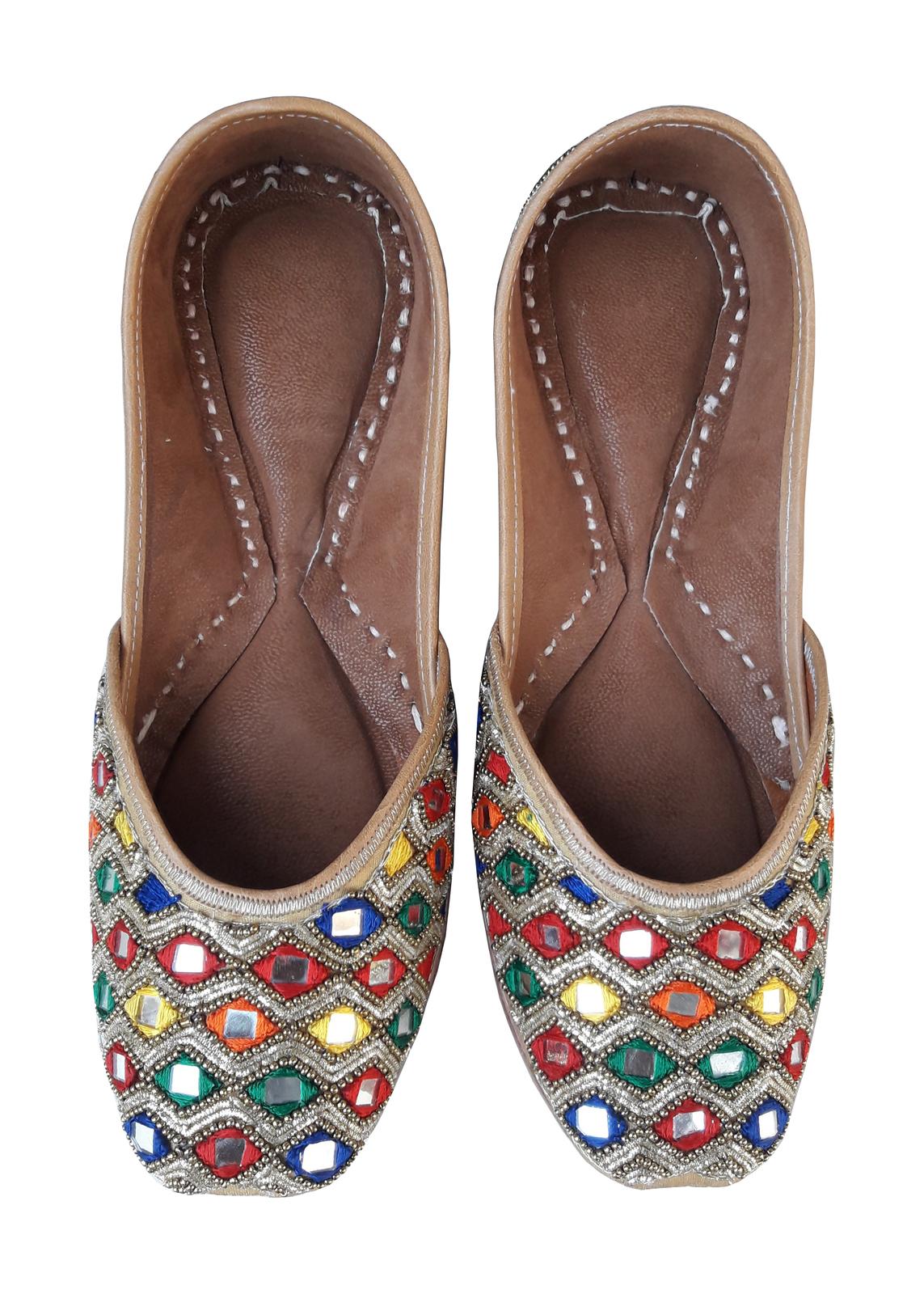 punjabi jutti khussa shoes bridal shoes , flip flops jooti sandal slipper USA-7 - $29.99