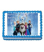 FROZEN edible party cake topper decoration frosting sheet image - $7.80
