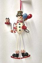 Snowman/Santa with Long Legs 6 inch Ornament (Snowman) - $20.00