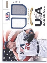 2012 Panini USA Baseball 15U National Team Dual Jersey #8 Kyle Dean NM-MT (Memor - $25.00