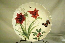 Lenox Butterfly Meadow Holioday Amaryllis And Monarch Butterfly Dinner P... - $19.79