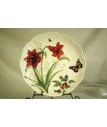 Lenox Butterfly Meadow Holiday Amaryllis And Monarch Butterfly Dinner Pl... - $13.85