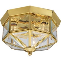 Progress Lighting P5788-10 Octagonal Close-To-Ceiling Fixture with Clear... - $51.41