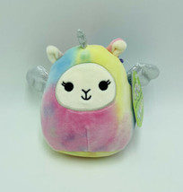 "Squishmallows Lucy-May Llamacorn 5"" Easter Tie Dye Stuffed Animal Kellytoy NWT - $10.99"